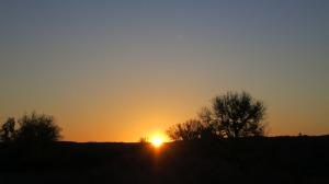 sun rising in eastern montana